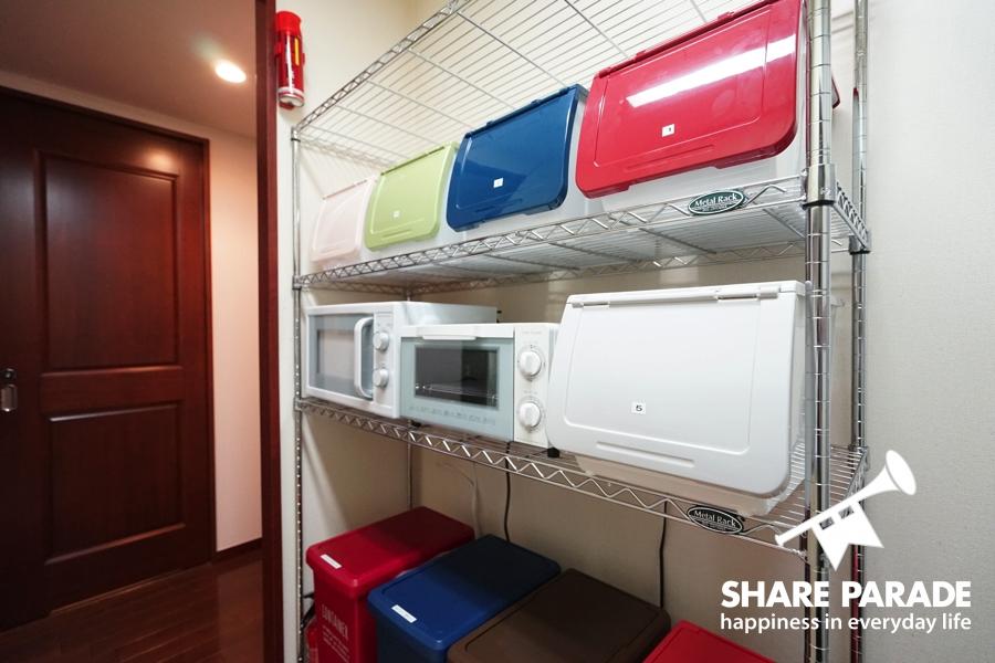 家電や個別のボックスも完備。