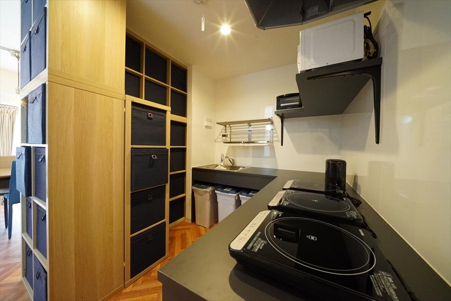 L字型のキッチンです。