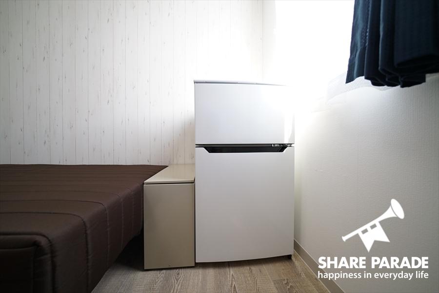 2ドア冷蔵庫。
