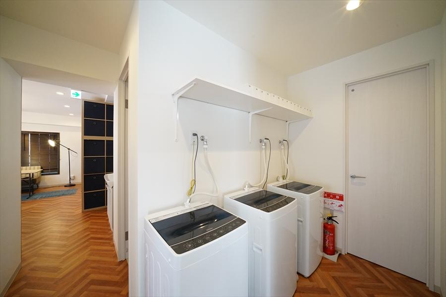 洗濯機は3台。