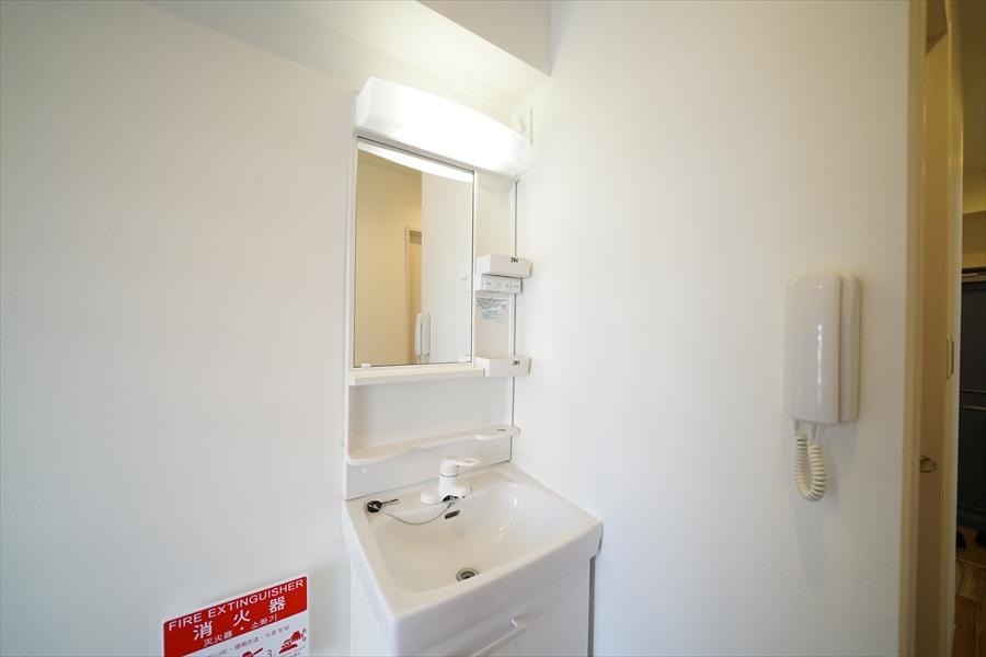 洗面は各ユニット毎にあります。