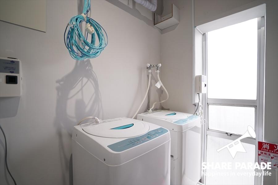 洗濯機も多くのフロアにあります。