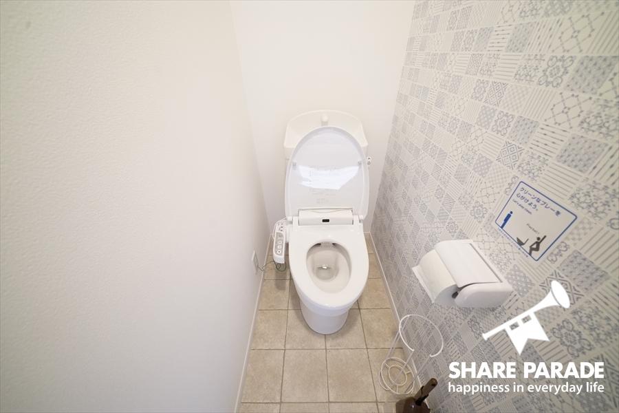 トイレも各フロアに。