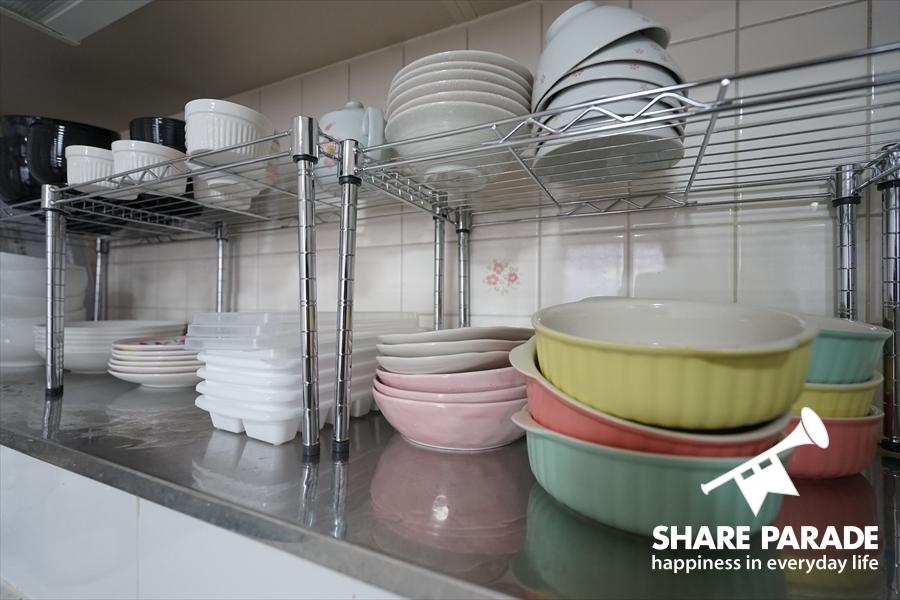 共有で使える食器類が充実しています