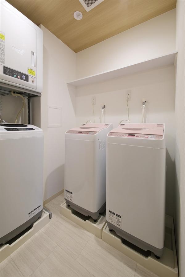 共有で使える洗濯機です