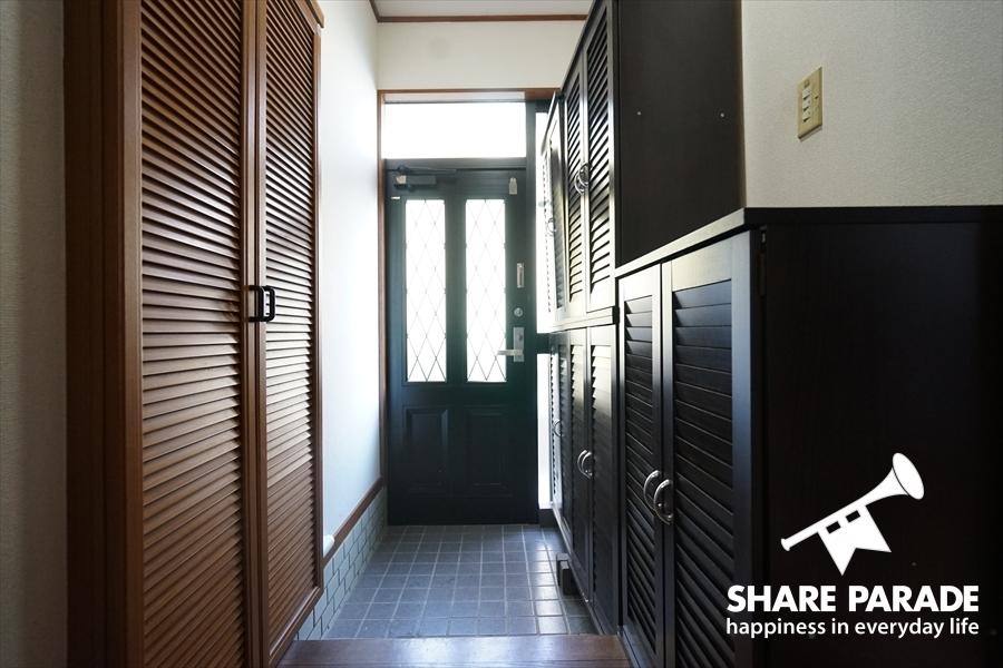 玄関も個室もデジタルロックなので鍵はありません。