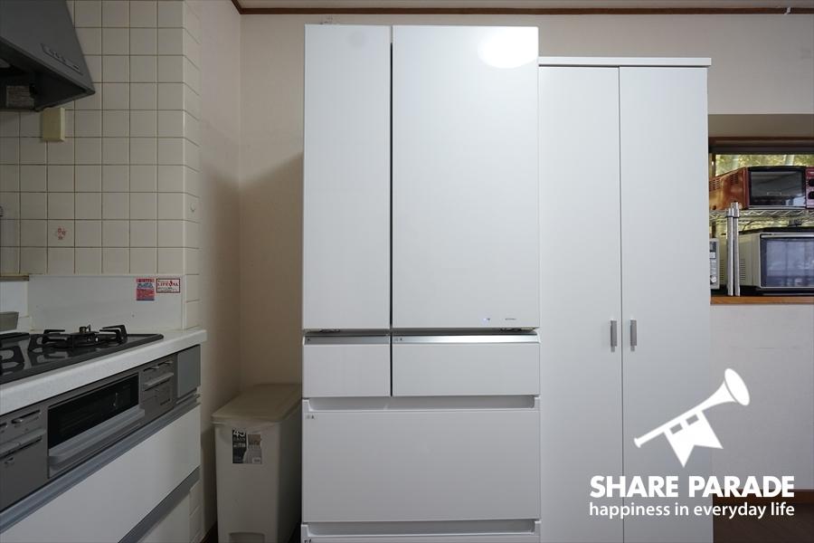 5人で1つの冷蔵庫を使用します