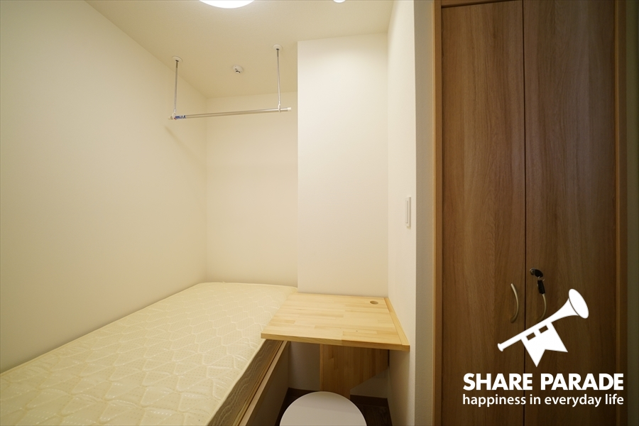 ツインルームもほぼ個室タイプです。