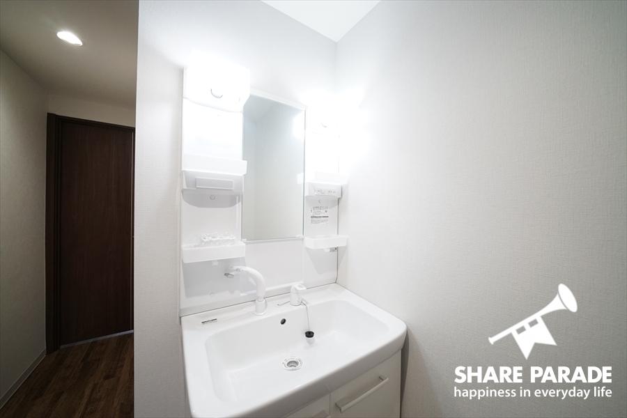 洗面も3つのフロアにあります。