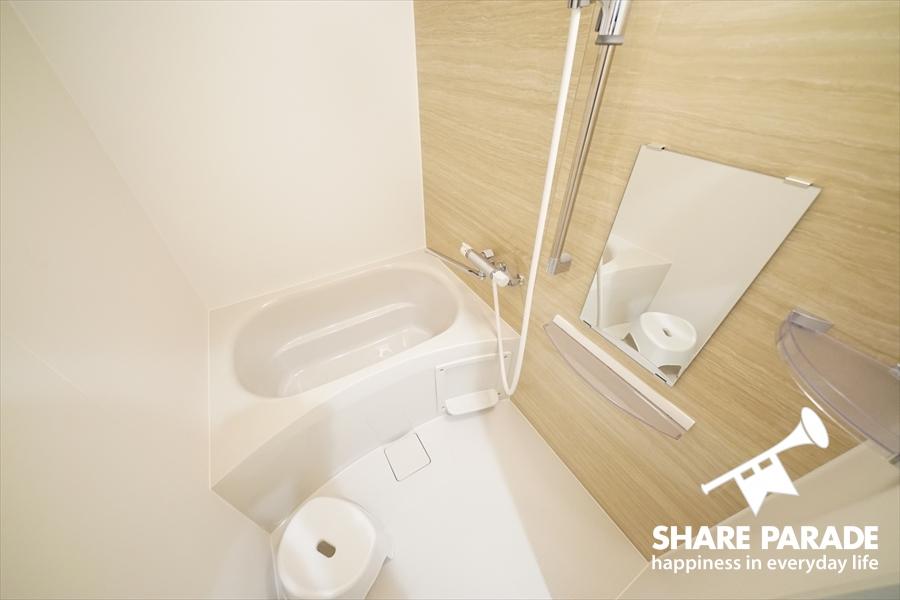 バスルームは2Fにあります。