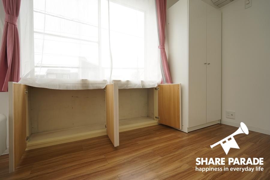 お部屋ごとに収納が異なります