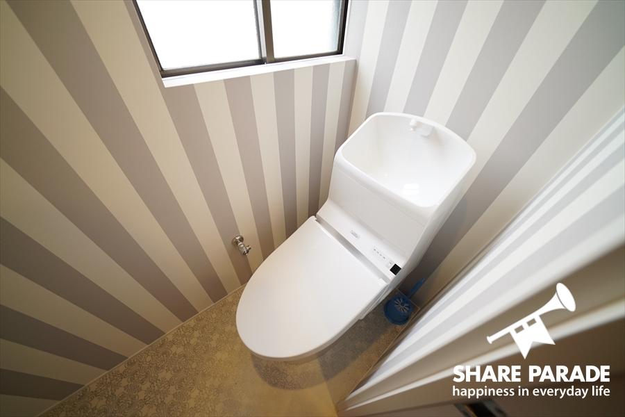 爽やかな3Fのトイレ。