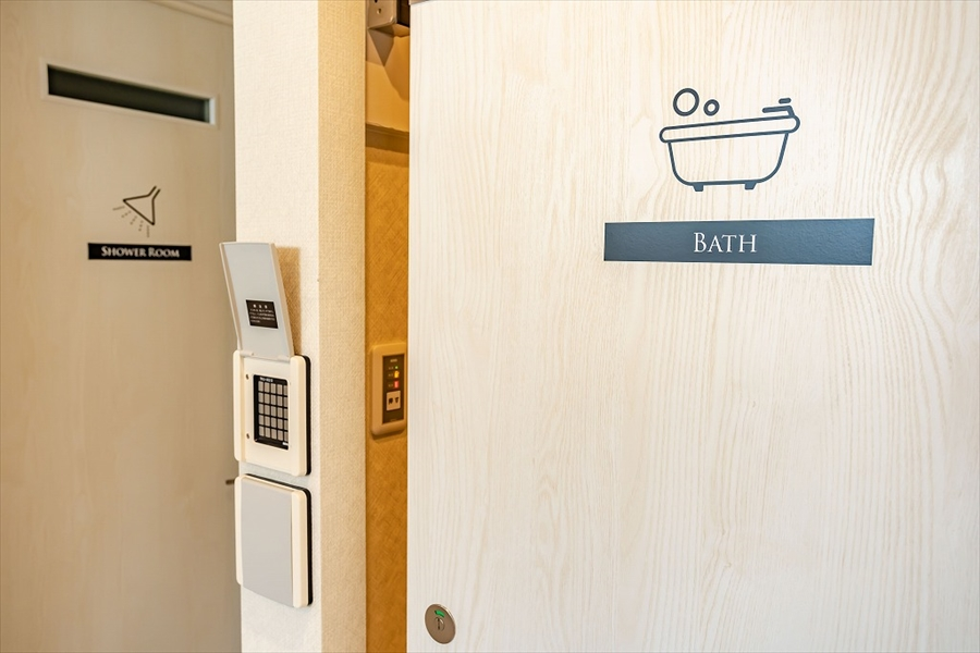 バスルームの目印になっています