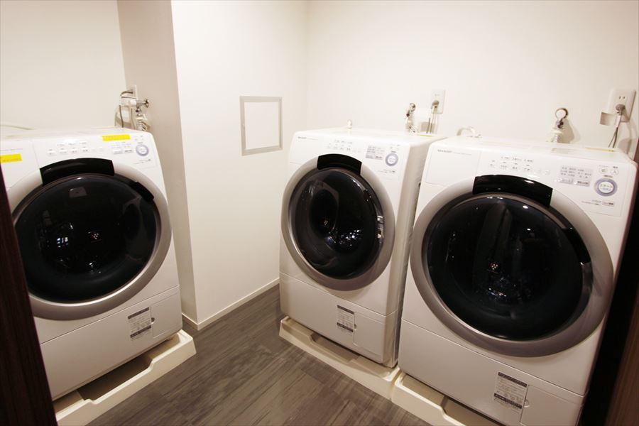 全自動洗濯機が完備されています