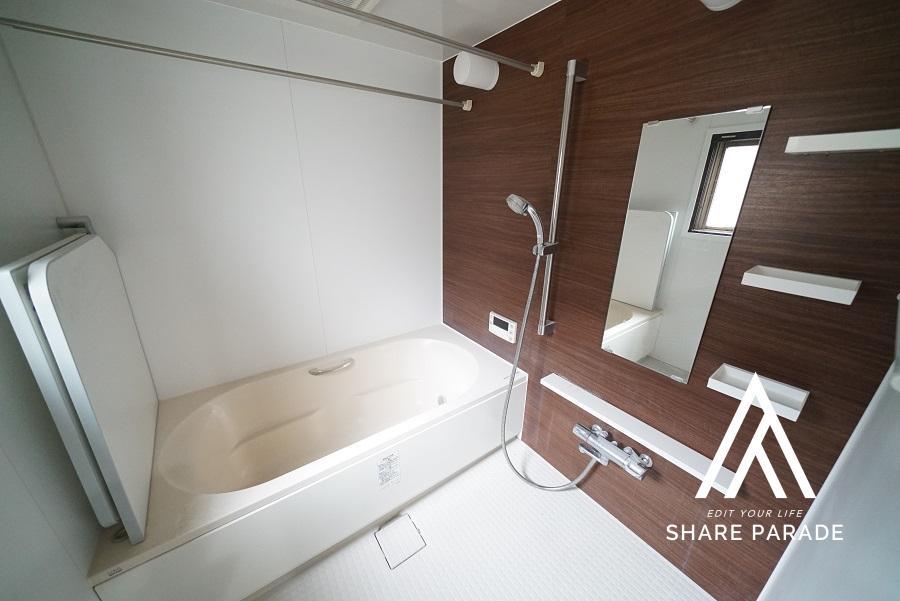 都心でこのサイズ感のバスルームは珍しい。一日の疲れが癒えそうです。
