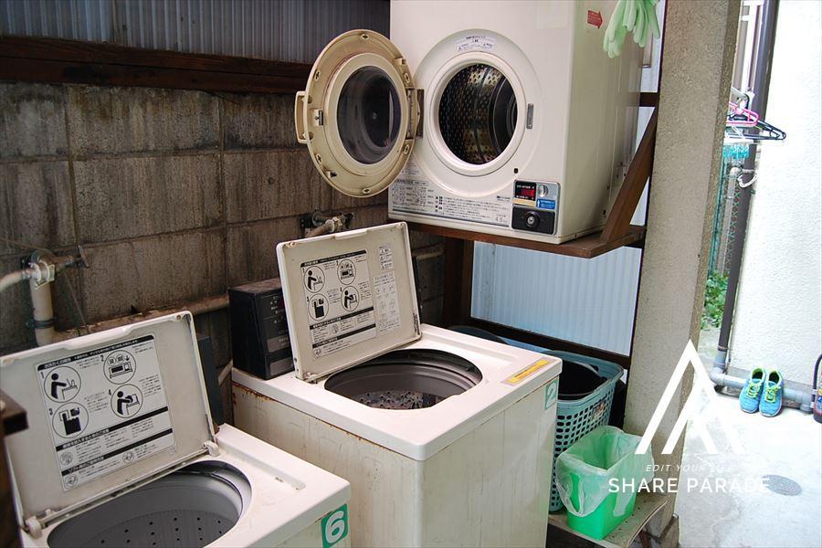 共有の洗濯機です