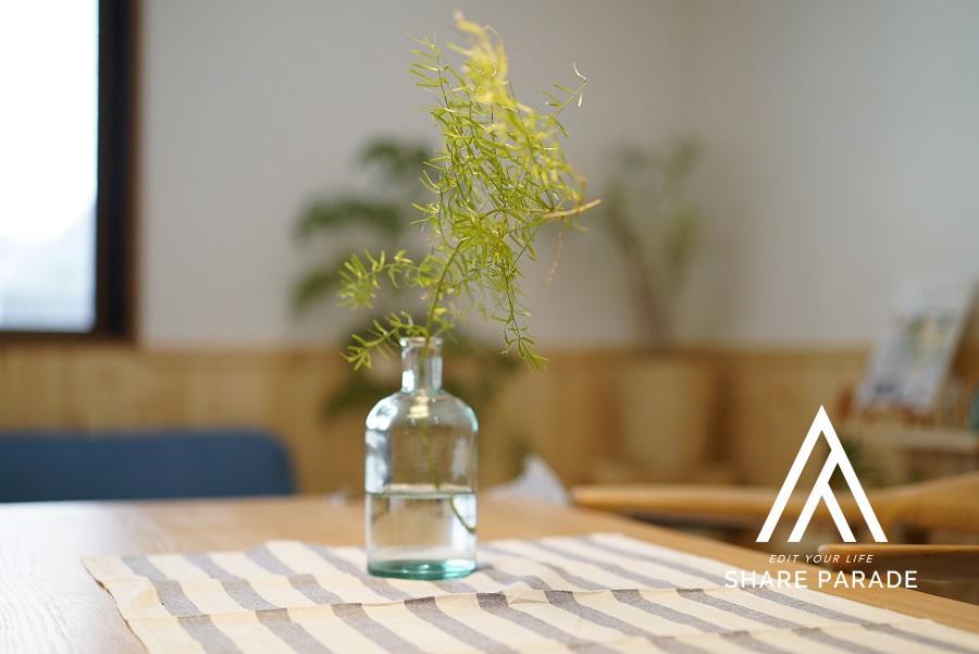 テーブルでもちょっとしたグリーン。