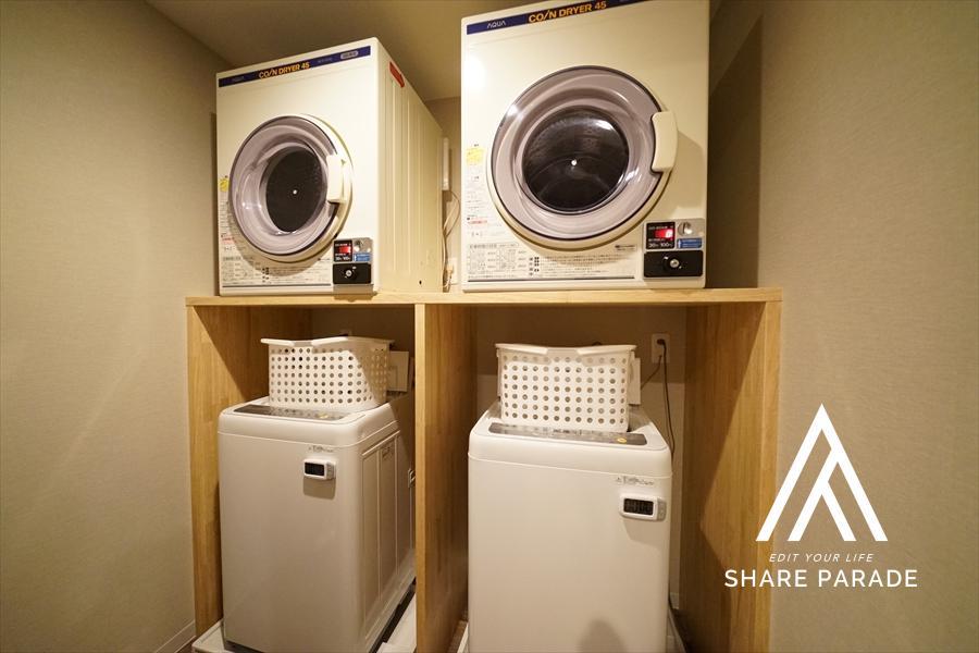 乾くのが早いガス式乾燥機。