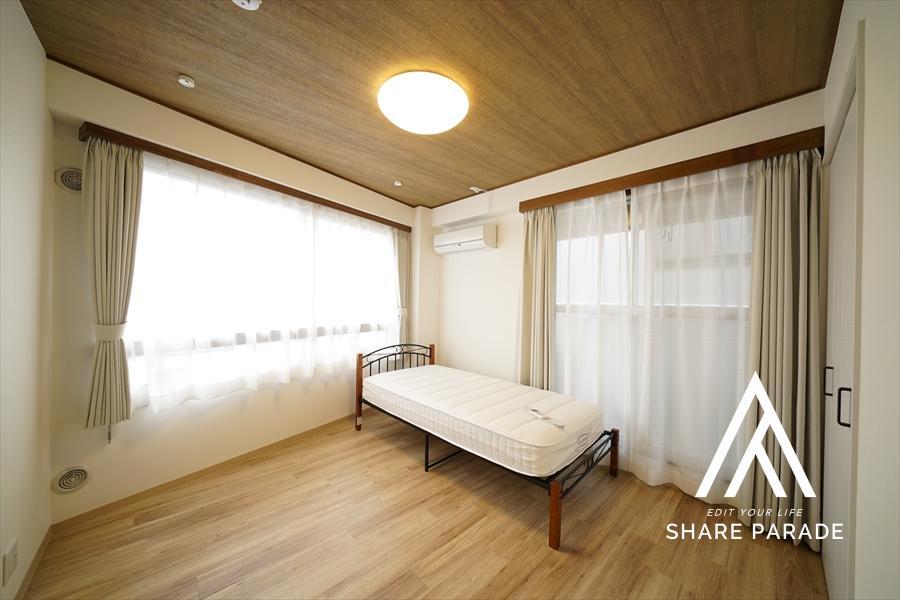 2面の大ウィンド。開放感をお求めの方はこちらのお部屋がオススメです。