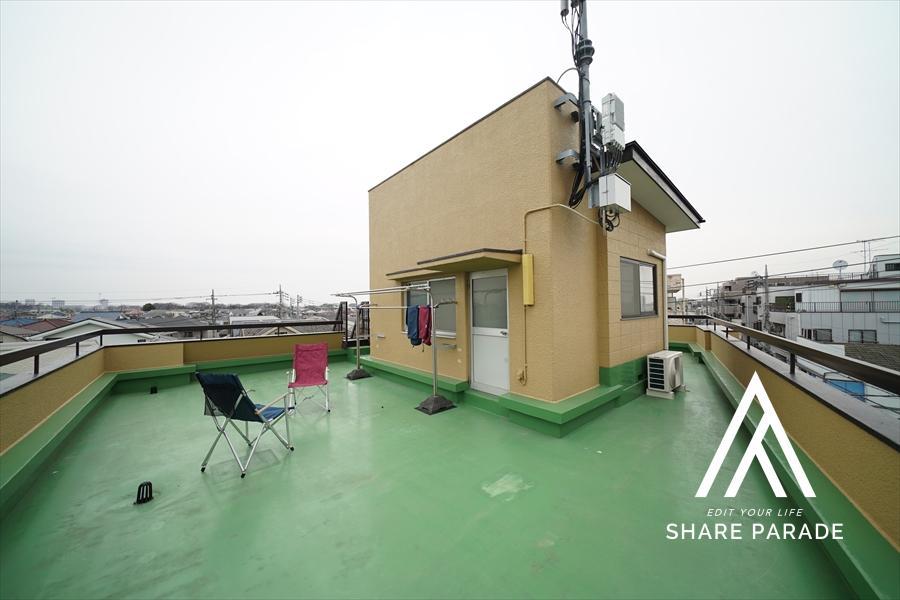 360°パノラマビューの屋上です。天気いい日はアウトドア気分で。