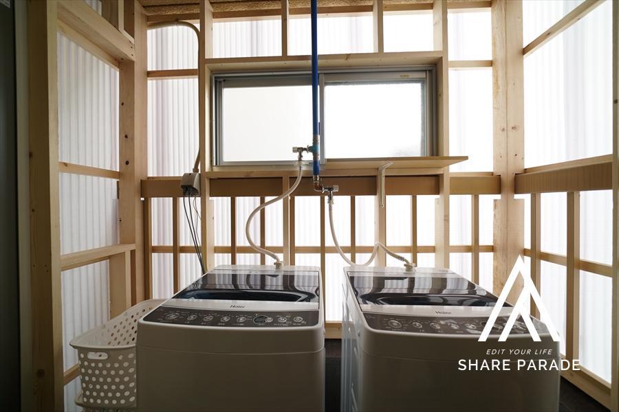 洗濯機も2台。