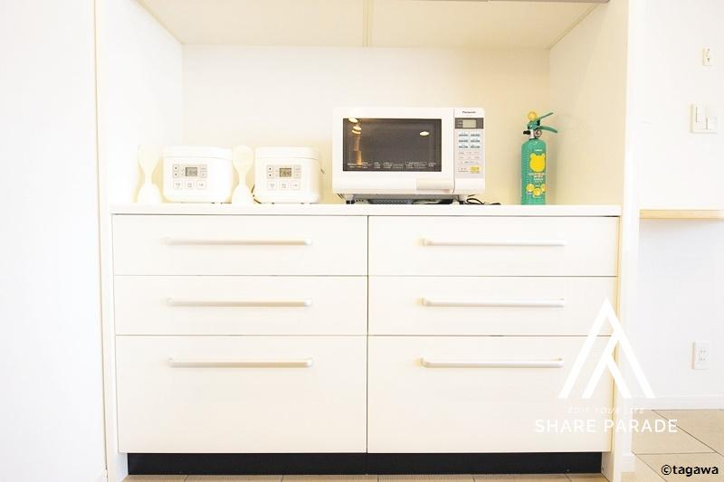 すっぽり入ったキッチン収納。