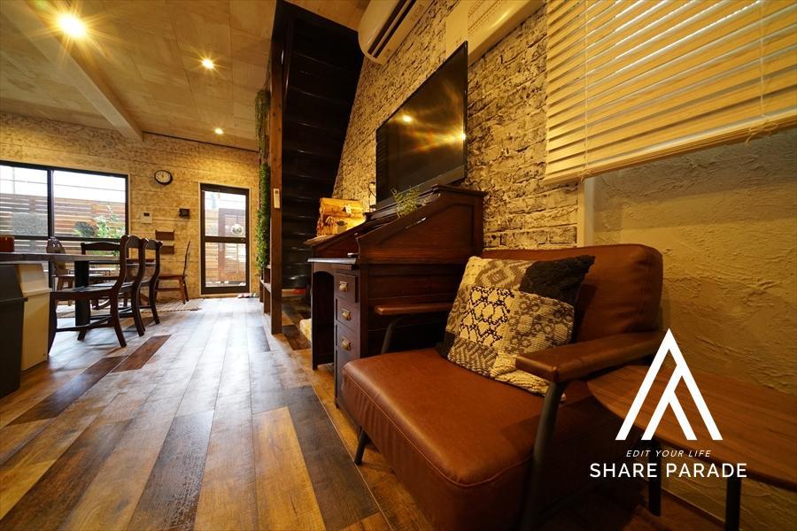 アンティークな家具がオシャレ。