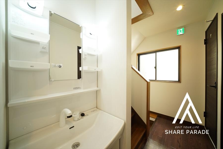 洗面は2~4Fのそれぞれに。