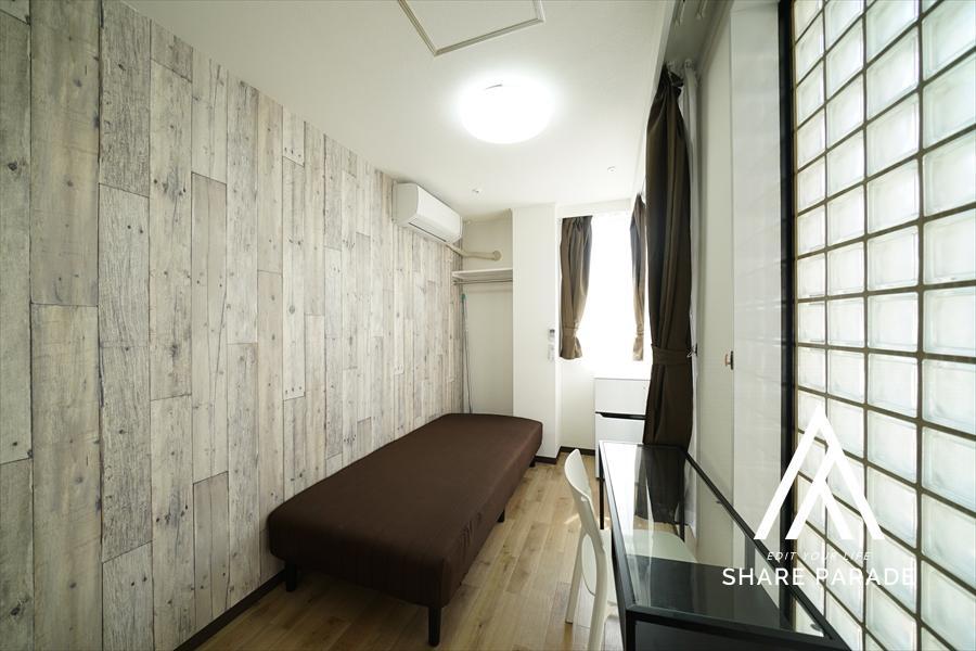 ブロックタイルのある珍しいお部屋。