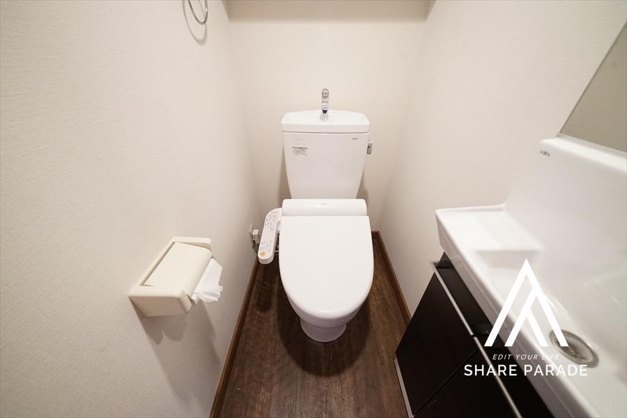 3階のお部屋は、ウォシュレット付きのお手洗いです! 一部のお部屋では専用の手洗いもあります!