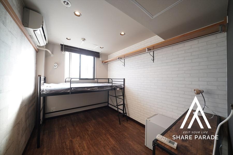 2段ベットタイプのお部屋です! 下のスペースを有効的に活用できます!