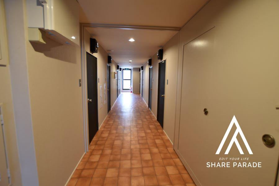 2階、3階の共用廊下