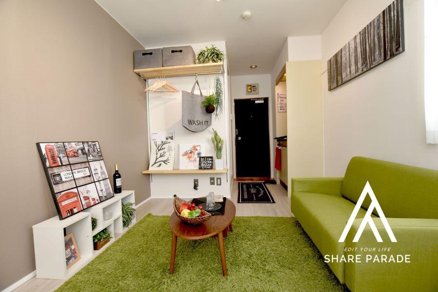 ベッドと冷蔵庫の家具も無料で貸し出ししており、身軽にすぐにでも新しい生活をスタートさせることができます。