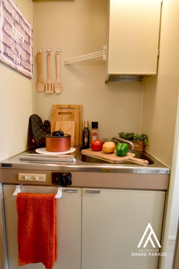 各居室にIHキッチン完備!好きな時に好きなお料理を楽しんください♪
