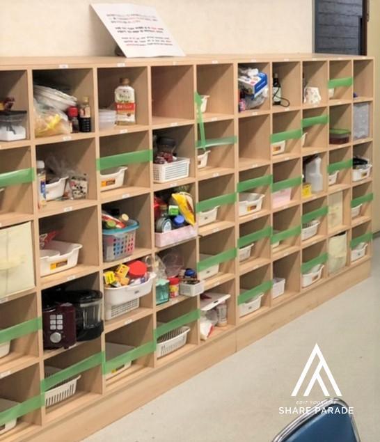 調味料保管用の棚