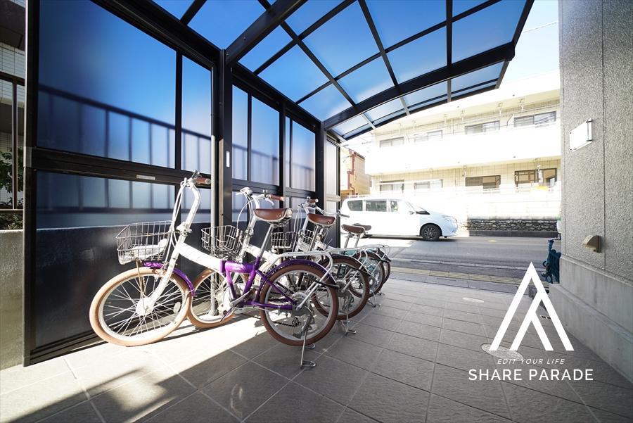 シェア自転車4台完備